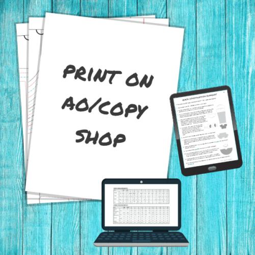 Print on A0 (copy shop)
